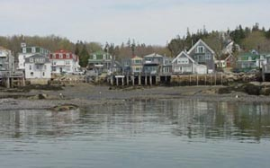 The Village of Deer-Isle, from Stonington Harbor